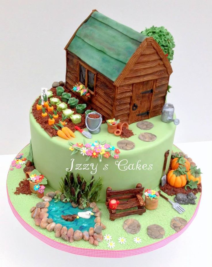 Garden Decoration For Cake : The 92 best images about Garden themed cakes on Pinterest ...