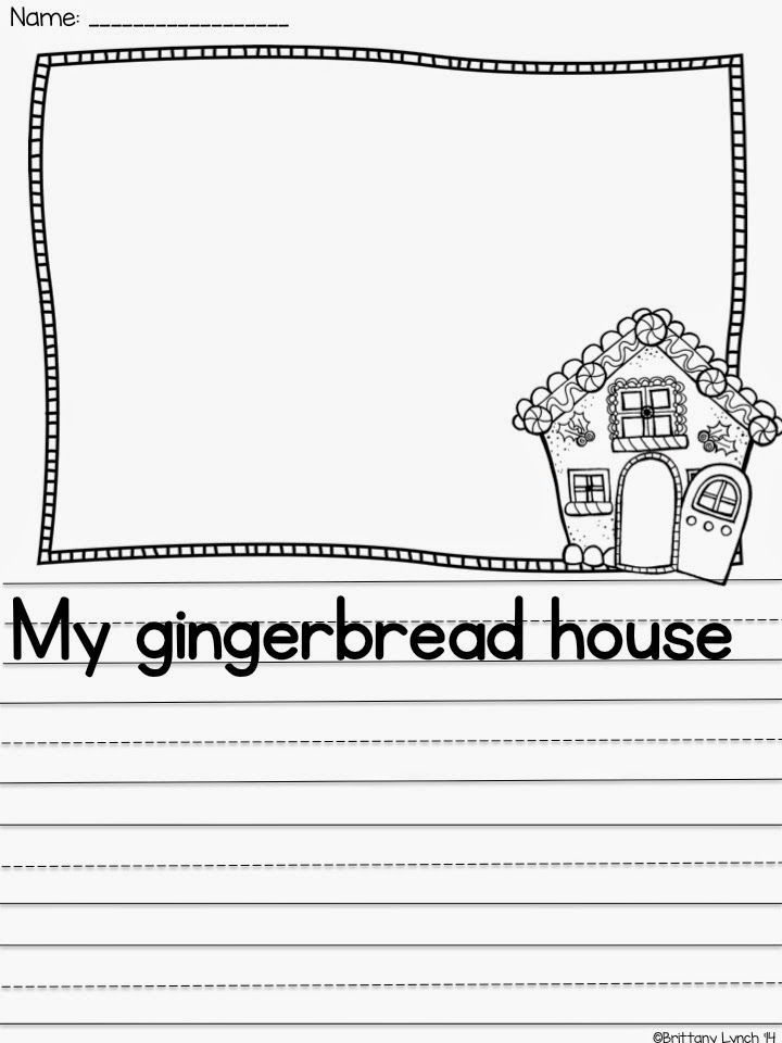 FREE writing prompt to use after your students make gingerbread houses