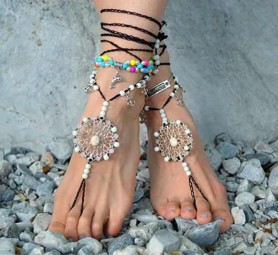 barefoot sandals Barefoot Beach Jewelry Barefoot shoes Beach
