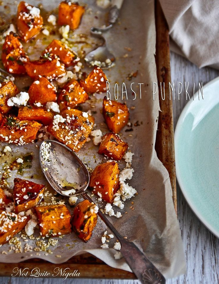 Roast Pumpkin with Honey and Feta