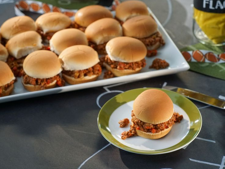 Slow-Cooker Sloppy Joe Sliders recipe from Valerie Bertinelli via Food Network