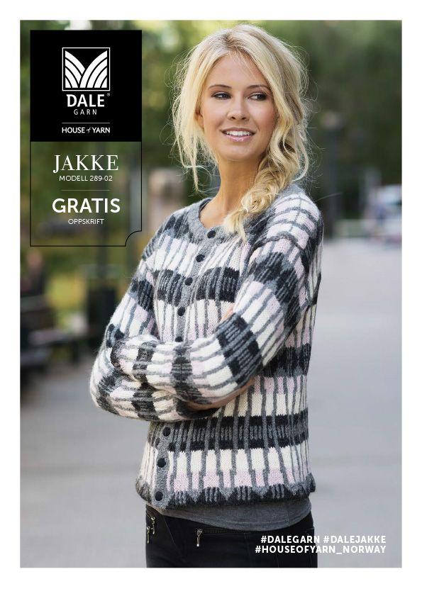 #DaleGarn Free download pattern Jakke med stort mønster nr. 289-02