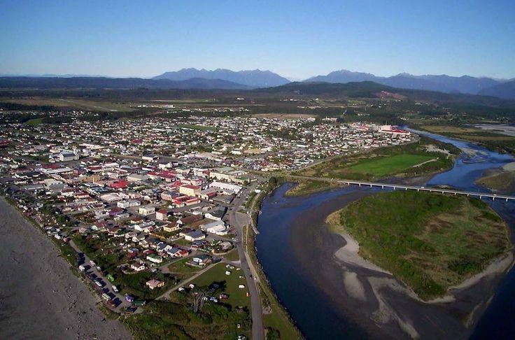 Hokitika River Mouth, Aerial View, Hokitika