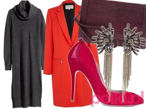 Stylizacja z dzianinową sukienką - #3 #polkipl #stylizacje
