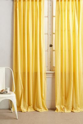 Anthropologie Scalloped Lace Curtain #anthrofave