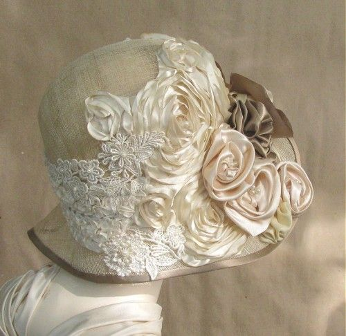 want: Silk Flowers, 1920S Style, Shabby Chic, Spring Summer, Medium Hair, Fabrics Rose, Vintage Hats, Cloche Hats, Vintage Style