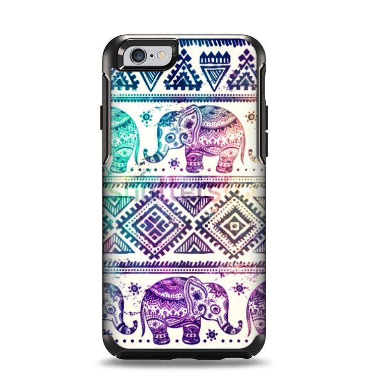 The Tie-Dyed Aztec Elephant Pattern Apple iPhone 6 Otterbox Symmetry Case Skin Set