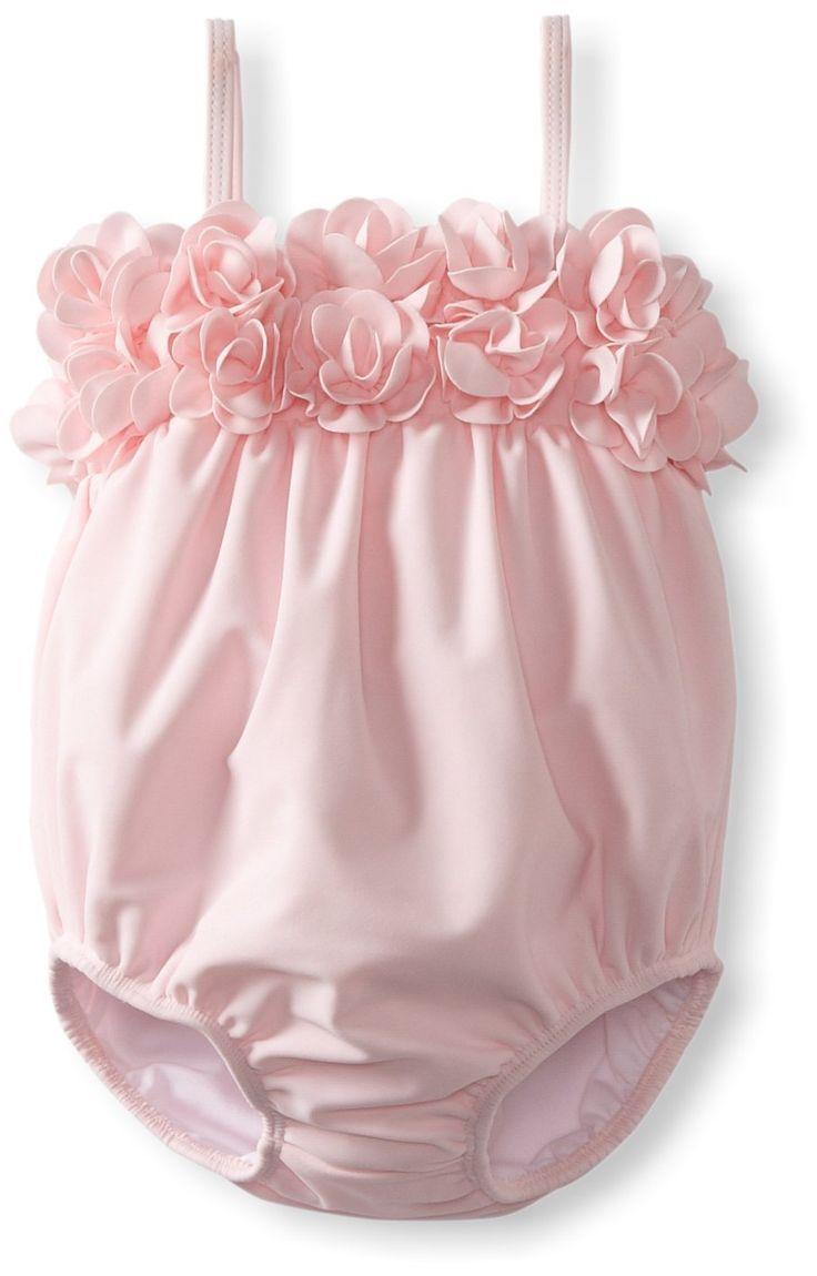 Kate Mack Baby-Girls Infant Blooming Roses Swim Bubble (swimsuit)