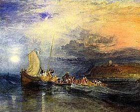 Folkestone from the Sea - Joseph Mallord William Turner, 1775-1851 - OldMastersOnline.com