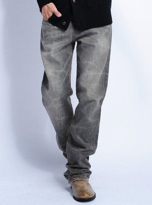 グレー M (ジャックポート)JACK PORT デニムパンツ メンズ ジーンズ ジーパン ストレート カジュアル ヴィンテージ 春 夏 JPP07142005101