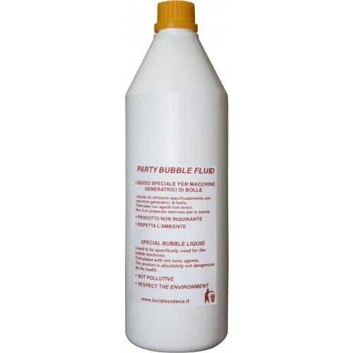 Confezione di 1L di Party Bubble Fluid (liquido per la produzione di bolle).  Utilizzando questo liquido con le nostre macchine per le bolle, potrete generare una grande quantità di bolle di sapone. Puoi trovare questo prodotto e tanti altri sul nostro sito: www.lucidiscoteca.it Contenitore da 1 kg