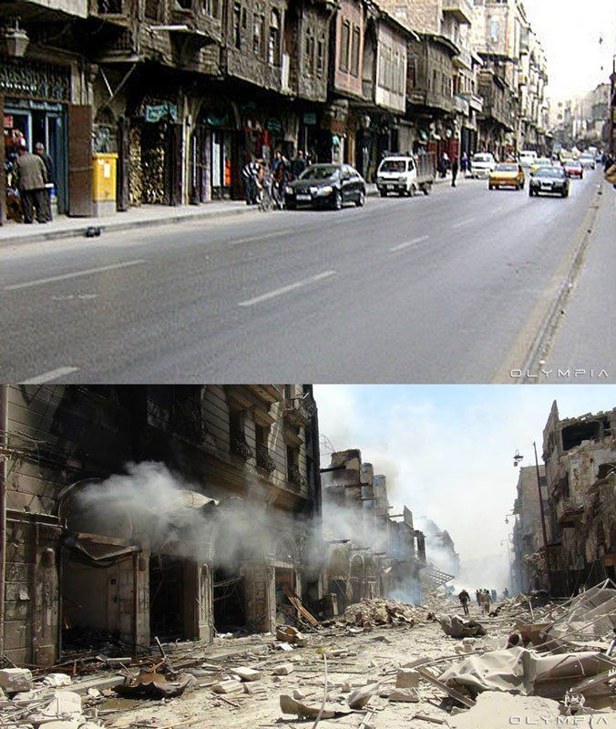 a syrian restaurant is posting before and after photos of aleppo and its heartbreaking 14 A Syrian Restaurant is Posting Before and After Photos of Aleppo and Its Heartbreaking