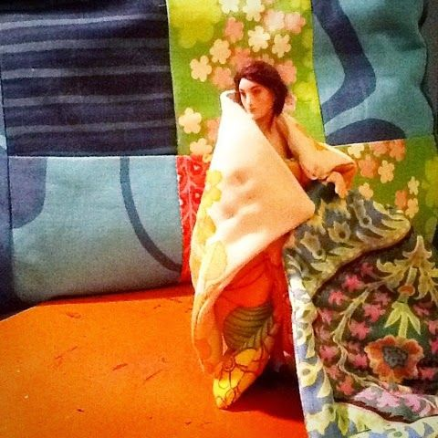 Doll by Taru Astikainen, blankets by Anna Wegelius and photo by Hanna & Leijona
