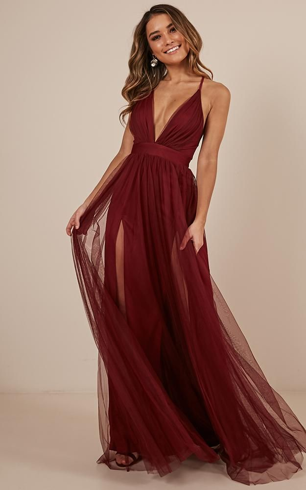af1780f09913 Celebrate Tonight Maxi Dress In Wine Produced By SHOWPO
