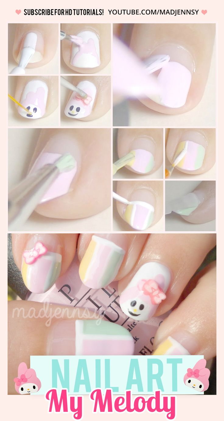 My Melody Nail Art Tutorial
