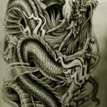 Oriental Dragon Tattoo Style (30)