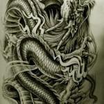 Oriental Dragon Tattoo Style (30)