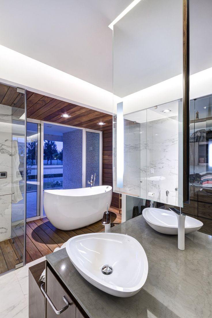 lassala orozco casa lr302 bañera exenta espejo al aire #bath #bathtube #mirror