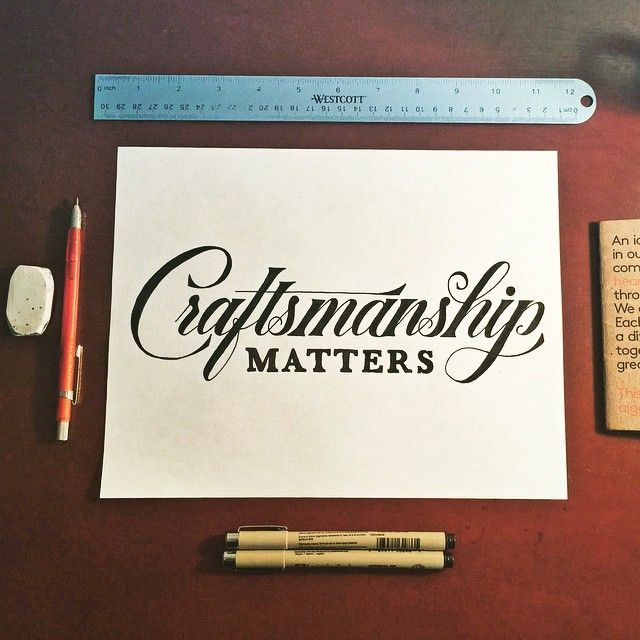 Beautiful custom script lettering