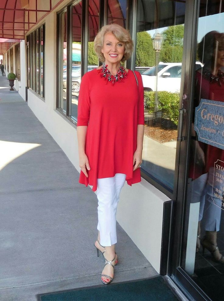 Red Tunic White Pants