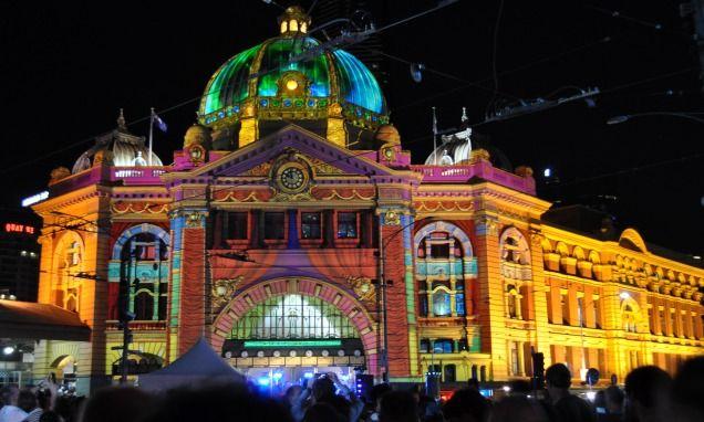 White Night Melbourne #FlindersStreetStation
