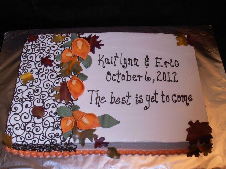 Herbst-Blechkuchen | Dieser 12×18 Blechkuchen war für eine Brautparty – Braut ist ha …   – Craft Ideas