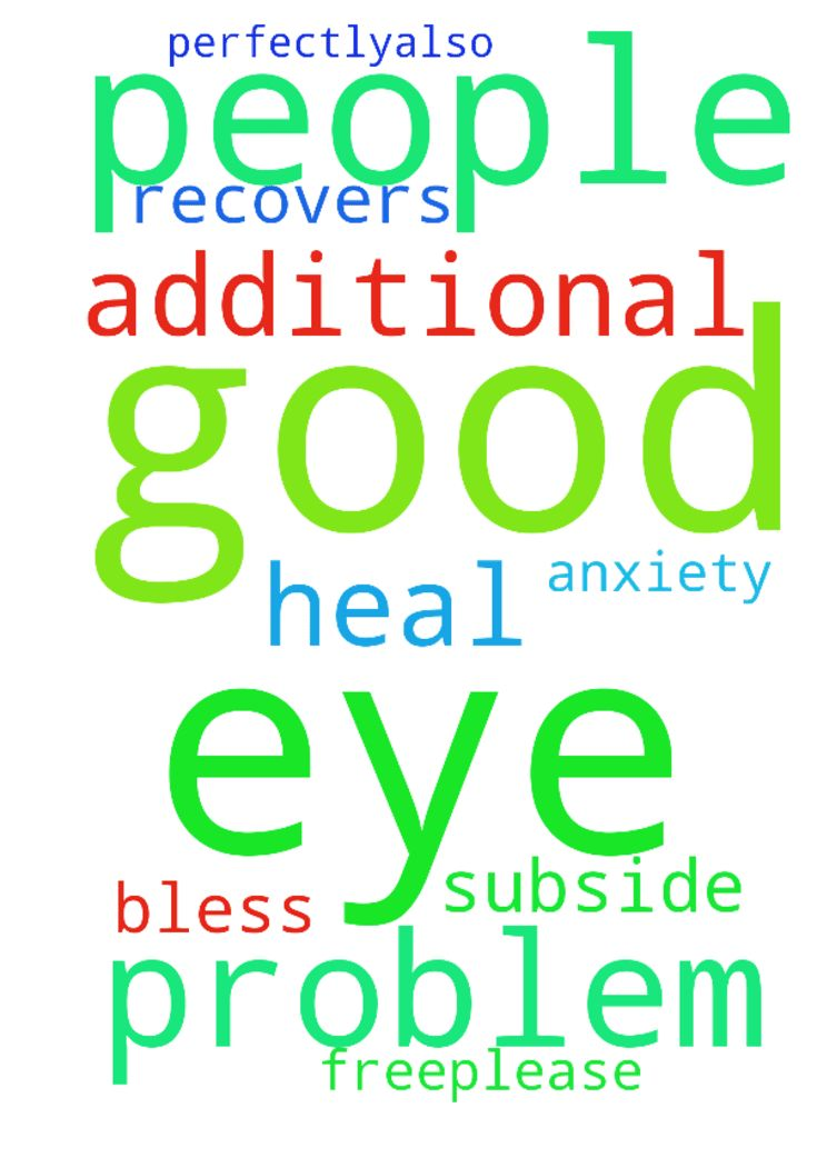 Please good people pray that my eyes are good and I - Please good people pray that my eyes are good and I have no additional problems and that my eye recovers and heal perfectly...also please let my other eye be problem free.Please let my anxiety subside. Thank you and God bless. Posted at: https://prayerrequest.com/t/Nl2 #pray #prayer #request #prayerrequest