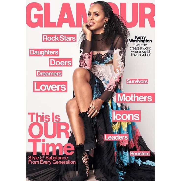"""""""The life of a black woman matters"""" – Kerry Washington covers Glamour Magazine's May 2017 Issue"""