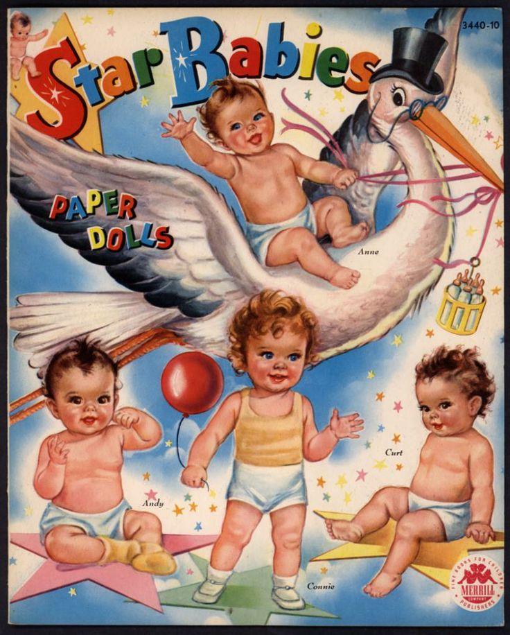 """Star Babies"" #3440 Merrill 1945. Illus. Connie"