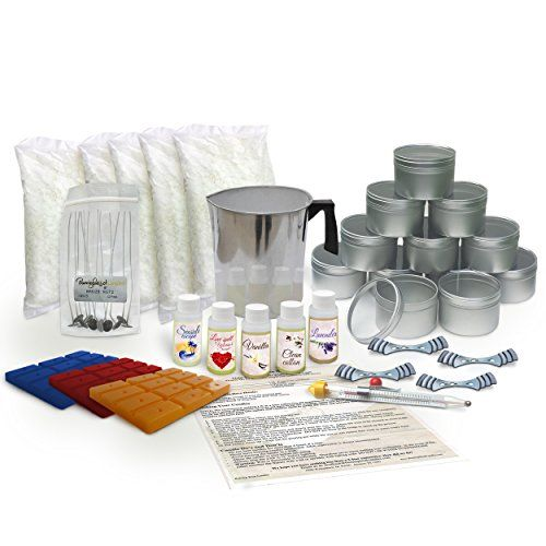 Soy Wax Large Candle Making Kit - With 5 lbs of Wax, Scent and Wax Dye