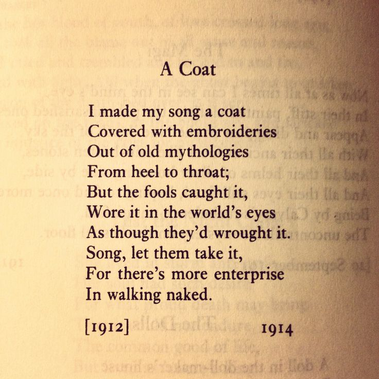William Butler Yeats Short Poems | Poetry
