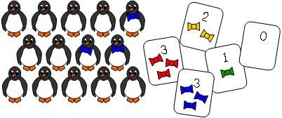 Penguin Bow Tie Math Mat activity found at Making Learning Fun.