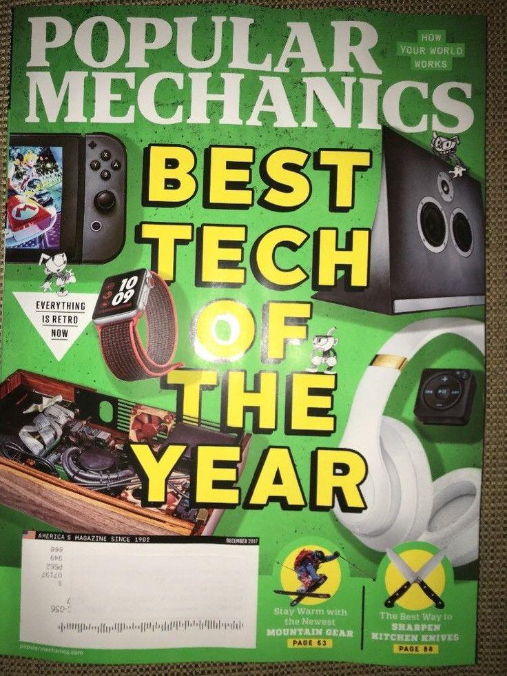 Popular Mechanics Magazine December 2017 BEST TECH OF THE YEAR Mountain Gear  | eBay