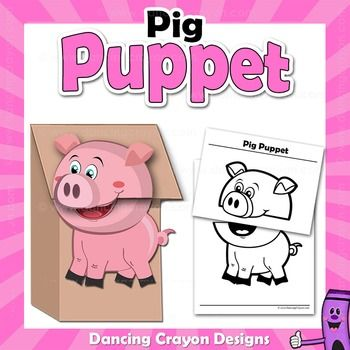 1000 images about paperbag craft ideas on pinterest for Pig puppet template