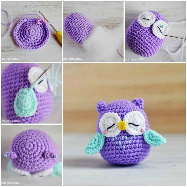 Amigurumi Baby Owl Pattern : Hibou crochet feutrine ( pique epingle ecc - Les creations ...