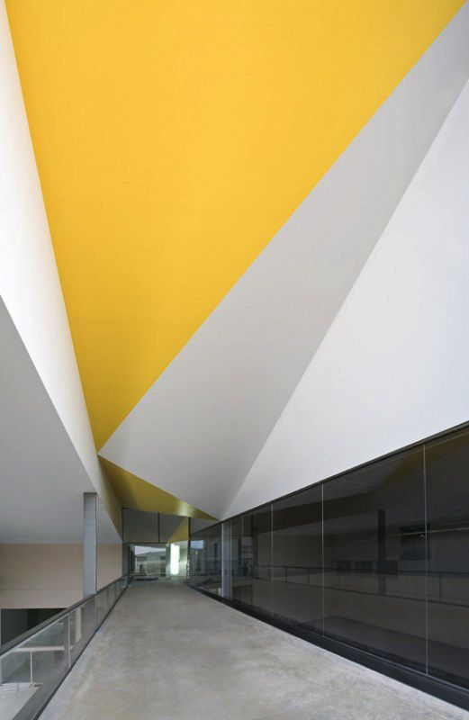 #yellow #triangle #ceiling
