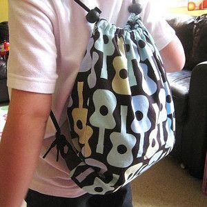 Darling Drawstring Bag   AllFreeSewing.com