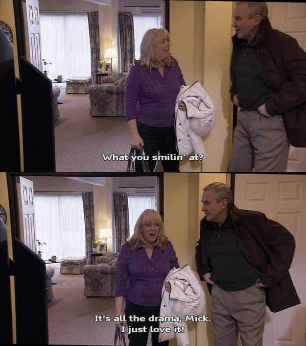 """When she couldn't resist a good bit of drama. 