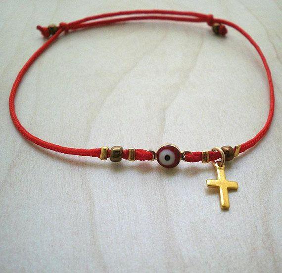 Red string of fate braceletevil eye braceletred string