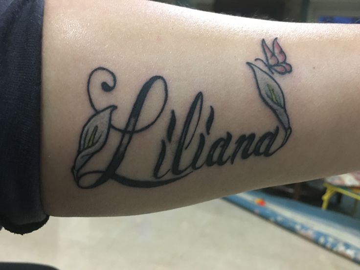 Inside Forearm Name Tattoo For My Daughter Liliana
