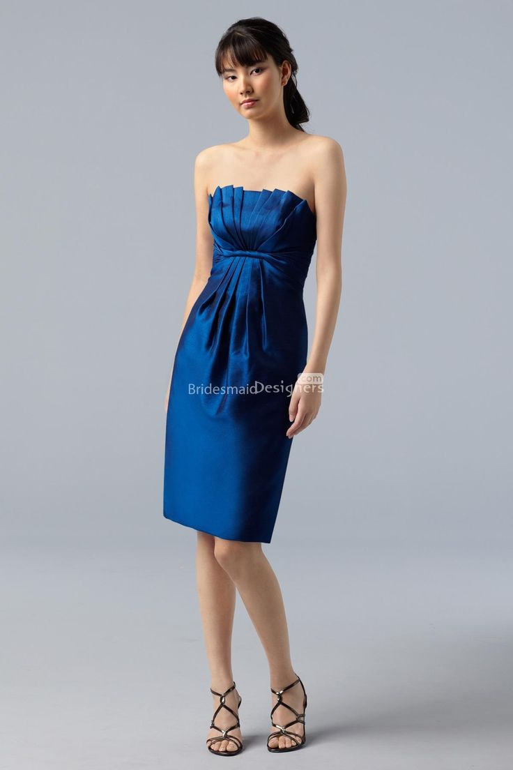 The 7 best images about royal blue bridesmaid dresses on pinterest charming royal blue sleeveless empire pleated knee length sheath bridesmaid dress silver wedding dressescelebrity ombrellifo Gallery
