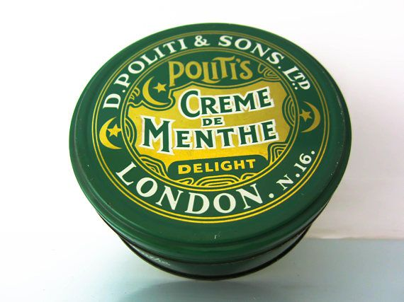 Vintage sweet tin Politi and sons ltd Vintage advertising