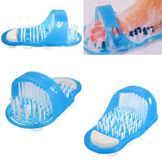 Easy Feet Foot Massager Brush Scrub Clean Easy Cleaning Shower  #Unbranded