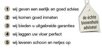 Waarom bij www.vloerenonlinevoordeel.nl de vloer kopen en ook door de eigen vloerenleggers? Beste combideals op laminaatvloeren en vertrouwd en veilig met garantie uw vloer geleverd en gelegd.
