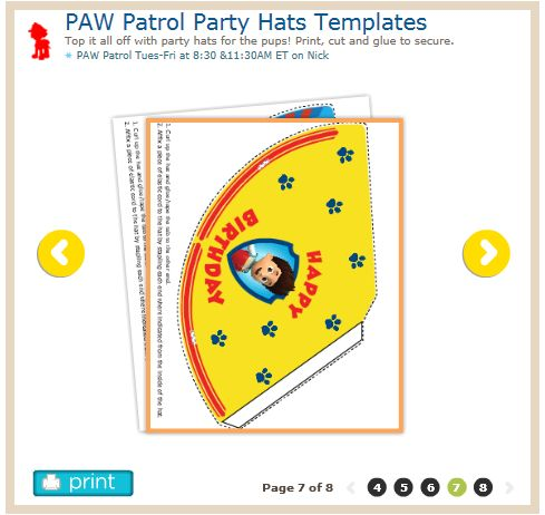 217 best Puppy Birthday Printables images on Pinterest Paw - party hat template