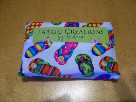 PACKAGE of 5  Multi colors Flip Flops   Tissue by FabCreateAndrea, $15.00