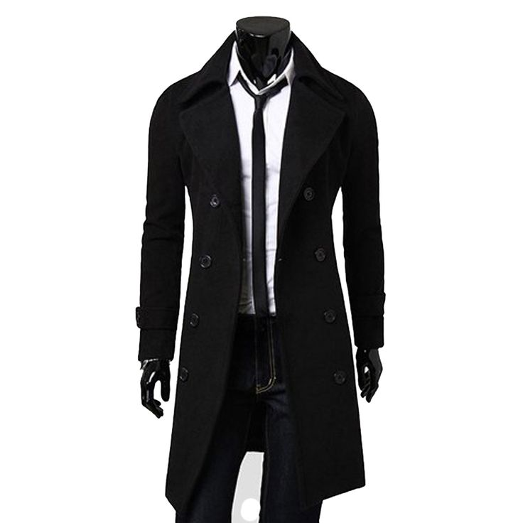 >> Click to Buy << Solid Color winter Pea Coat Turndown Collar Double-Breasted Design Long Sleeves Woolen Trench Coat For Men CHOLYL #Affiliate