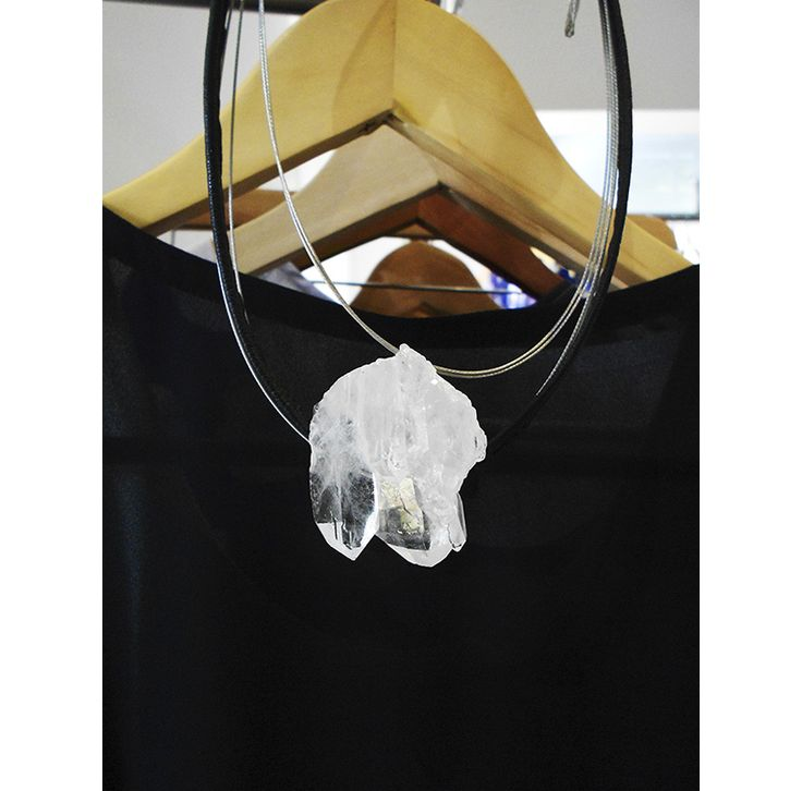 Collar cuarzo quarz  necklace style street style  instagram.com/a.s.accessories.a.s