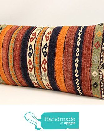 Handmade kilim pillow cover 12x24 inch (30x60 cm) Bohemian Kilim pillow cover Chair pillow Accent Pillow cover Kilim Cushion Cover from Kilimwarehouse https://www.amazon.com/dp/B07463TTSN/ref=hnd_sw_r_pi_dp_AzrDzbRVVF93Z #handmadeatamazon