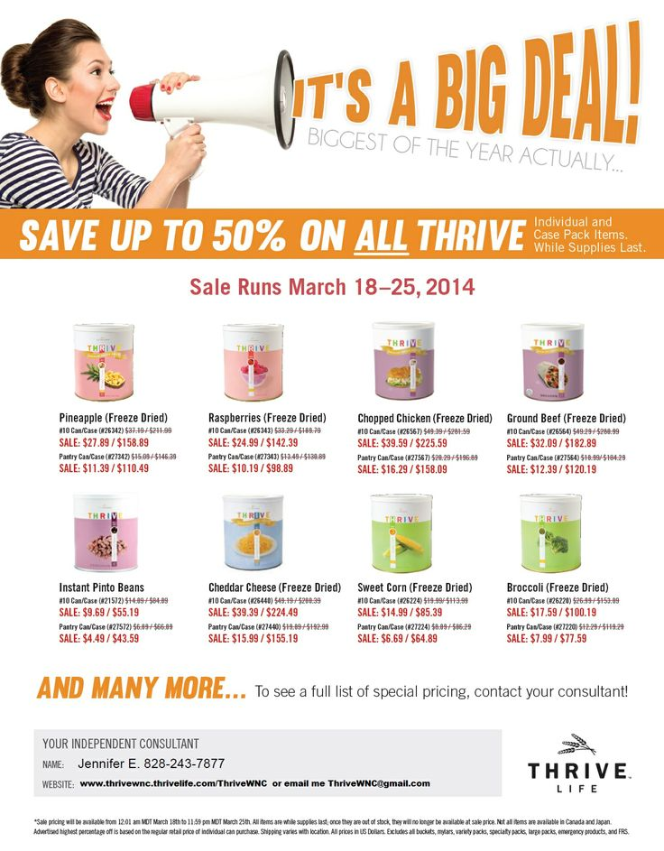You can see the upcoming sales prices but they won't be active until Tuesday March 18th. www.thrivewnc.thrivelife.com/marchmadness Order directly through me to earn freebies and benefits.